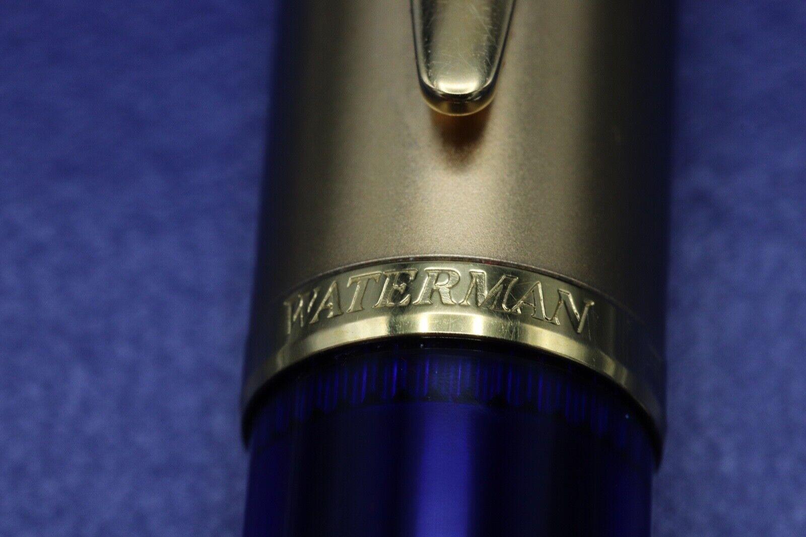 Waterman Edson Sapphire Blue Ballpoint Pen 2