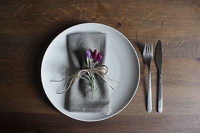 Handmade Grey Linen Napkins