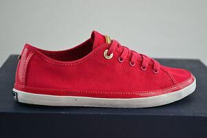 TOMMY-HILFIGER-KESHA-Rojo-Zapatillas-Zapatos-Mujer-de-deporte-talla-37