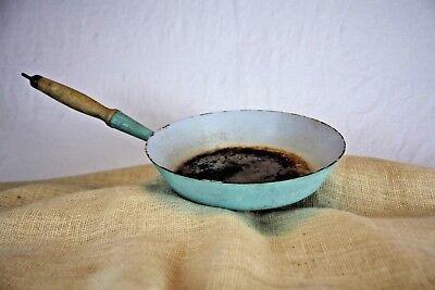 Vintage Le Creuset Teal Saute Pan #28, Made in France. Cast Iron, Enamel