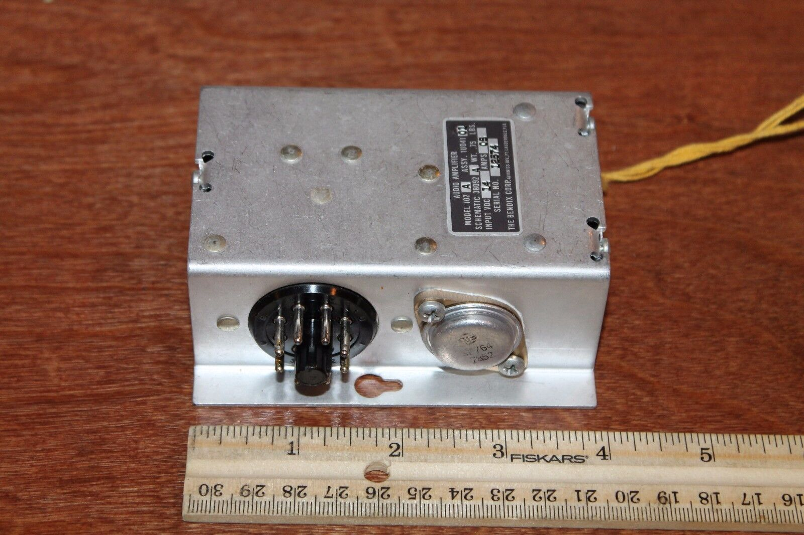 Bendix Audio Amplifier Model 102A P/N 1U041-01