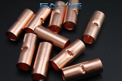 2 Gauge Copper Butt Connector 25 Pk Crimp Terminal Awg Battery Splice Cur2