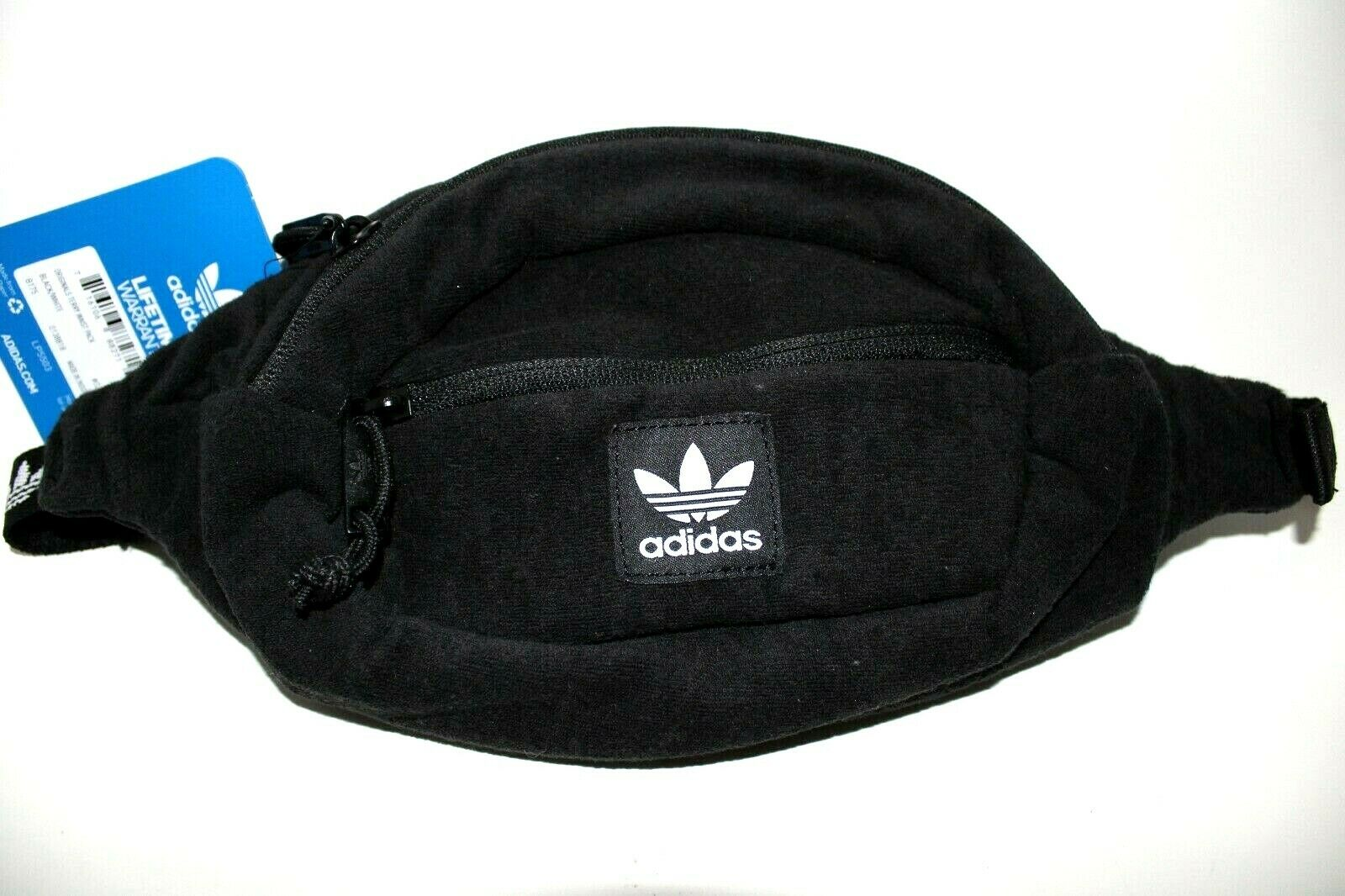 Adidas Originals Terry Adjustable Waist Fanny Pack Black/Whi