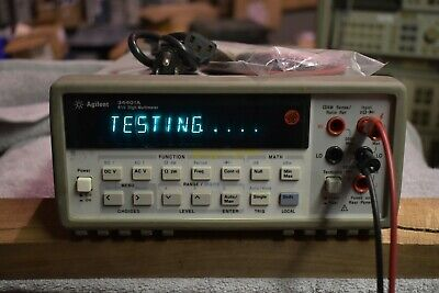 Agilent 34401a Digital Multimeter 6.5 Digits Works Well Good Condition