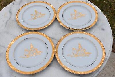 "RARE Set of 4 BLOCK MANCHESTER CHERUB 8"" Dessert Plates - EXCELLENT!"