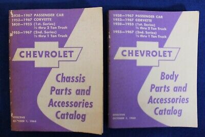 1938-1967 Chevrolet Body and Chasis Parts and Accessories Catalog Bowtie 2 Books