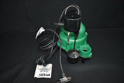New Pentair Myers Mdc50v1 - 12 Hp Cast Iron Sump Pump W Vertical Float Switch