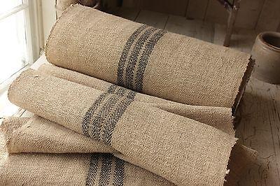 BLACK Grainsack fabric grain sack material hemp Upholstery organic Linen  RARE