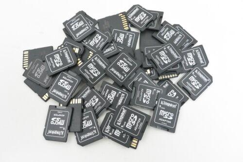 LOT of 50x Kingston MicroSD to SD Adapter 32GB 16GB 8GB 4GB 2GB 1GB Memory Cards