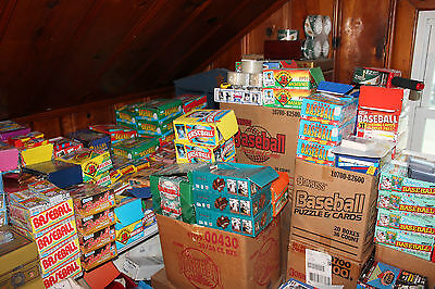 Huge Lot Of 300 Old Vintage Baseball Cards In Unopened Packs
