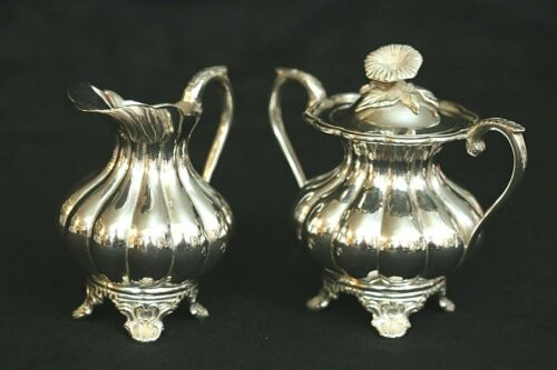 Heather Mexico Sterling Silver Cream and Sugar Set, 28.7 ounces, Heather Hijos