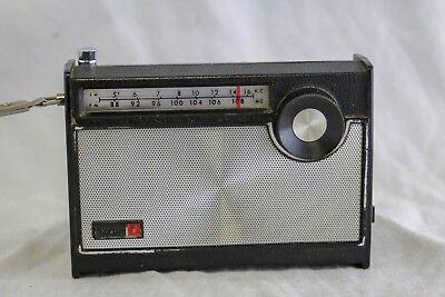 "Vtg Sears 9 Transistor Handheld Small 4.5"" Radio -Untested -Parts / Repair"