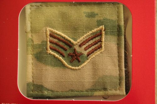 USAF US AIR FORCE I/A MULTICAM OCP E-4 HOOK BACK CAMOUFLAGE CAMO UNIFORM RANK