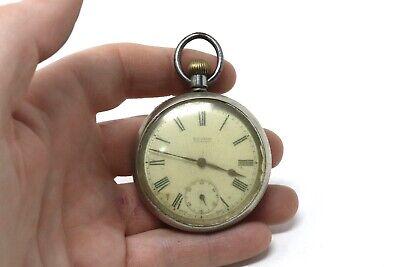 Antique Art Deco C1920's Nickel Omega Top Wind Gents Pocket Watch 78g #29081