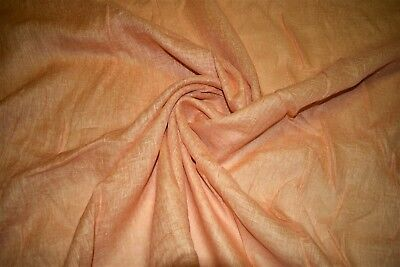 "100% Italian Linen Orange Sheer 126"" Drapery Fabric S.Harris Heirloom Mango FC2"