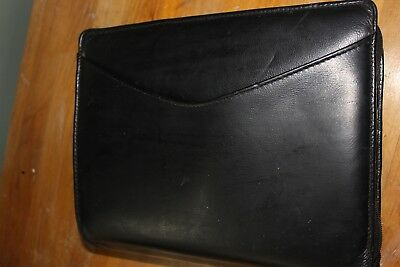 Vintage Day Runner Black Leather Pro Business System Loaded With Inserts
