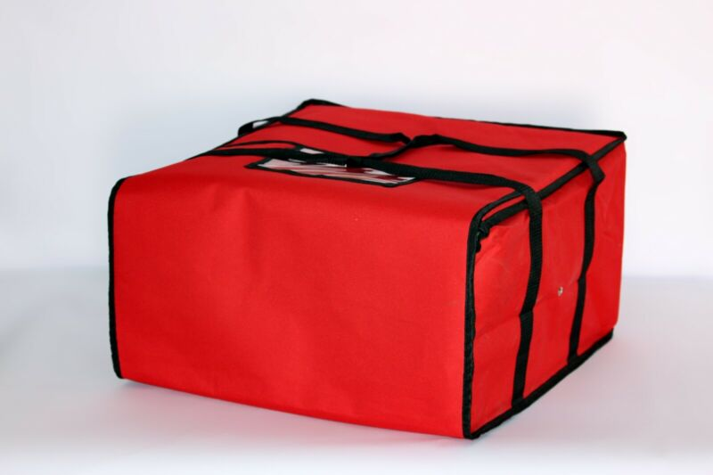"Pizza Delivery Bags Thick Insulated (Holds up to Five 16"" or Four 18"" Pizzas)Red"