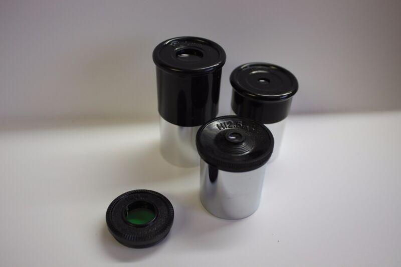 ".965"" Economy Telescope Eyepiece Kit 6mm 12.5mm 20mm & Econ Moon Filter NEW!"