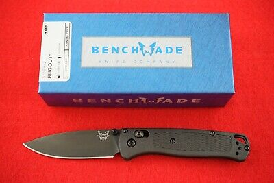 BENCHMADE 535BK-2 BUGOUT CPM-S30V, AXIS LOCK, BLACK HANDLE AND BLADE KNIFE, NEW