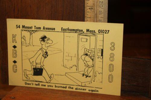 Vintage QSL Card Naughty Nude Risque KBC 3800 Easthampton Mass Lendzioszek