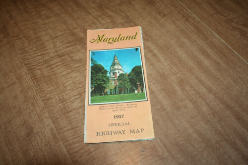 Official State Roads Commission 1957 Map Of Maryland McKeldin Governor See Pix!!