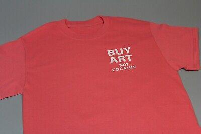 NEW KYC Vintage Buy Art Not Cocaine Hip Hop Rare Custom Peach Pink Tee T-shirt