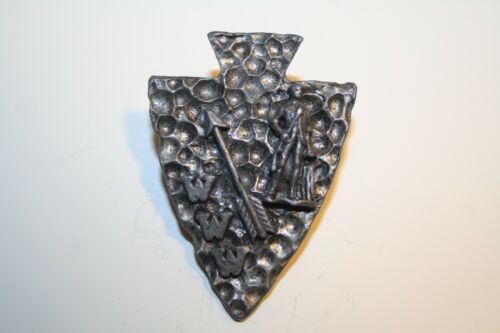 Boy Scout  Minuteman, Arrow, & WWW   Metal Neckerchief Slide