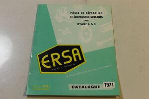 catalogue de pi ces d tach es ersa citroen pour dyane 4 6 1971 ebay. Black Bedroom Furniture Sets. Home Design Ideas