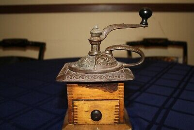 Antique Coffee Grinder Parkers National Coffee Mill