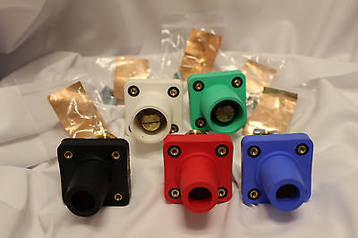 Camlok Panel Mount Set of 2 Male Green/White & 3 Female Black/Red/Blue  CLS40FRB