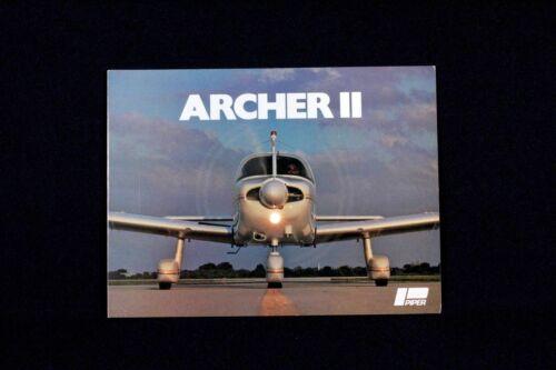 PIPER OEM Vintage Archer II Brochure 1979 Tri Fold Rare USA Color Aviation Gift