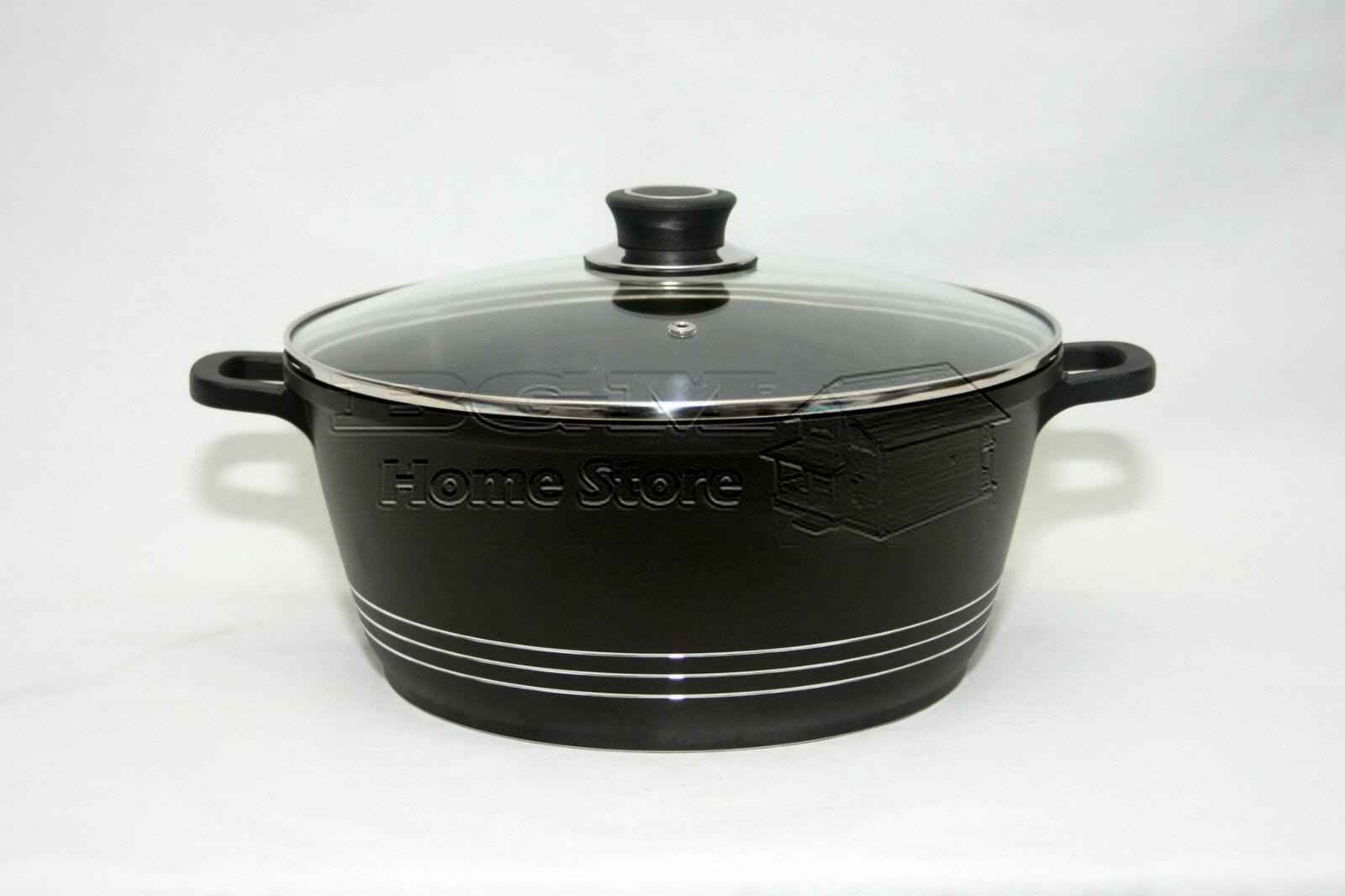 20cm die cast non stick deep induction casserole pot. Black Bedroom Furniture Sets. Home Design Ideas