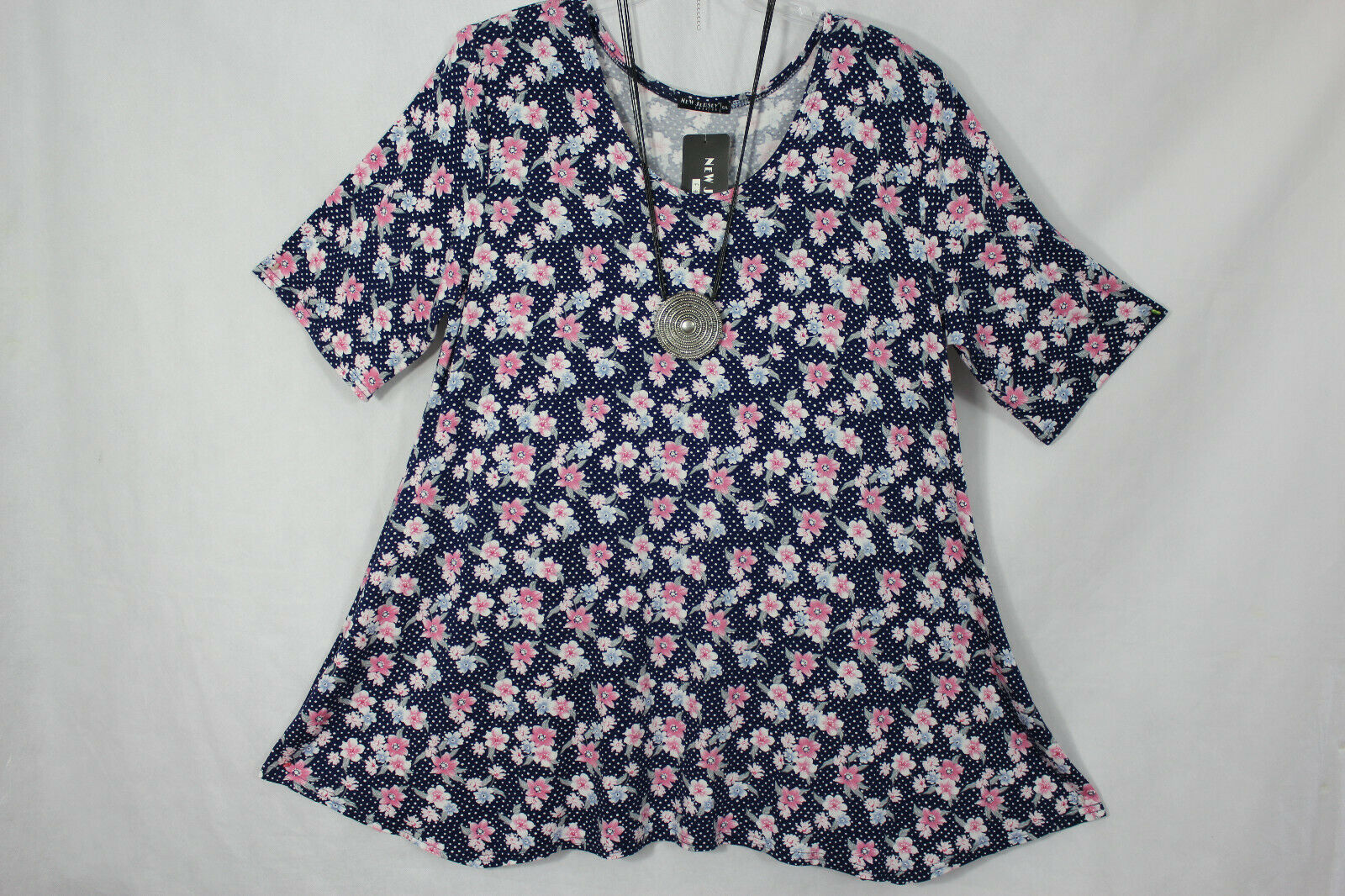 New Jersey Tunika Shirt Kleid Frühjahr/Sommer A-Linie Gr.L, Gr.40