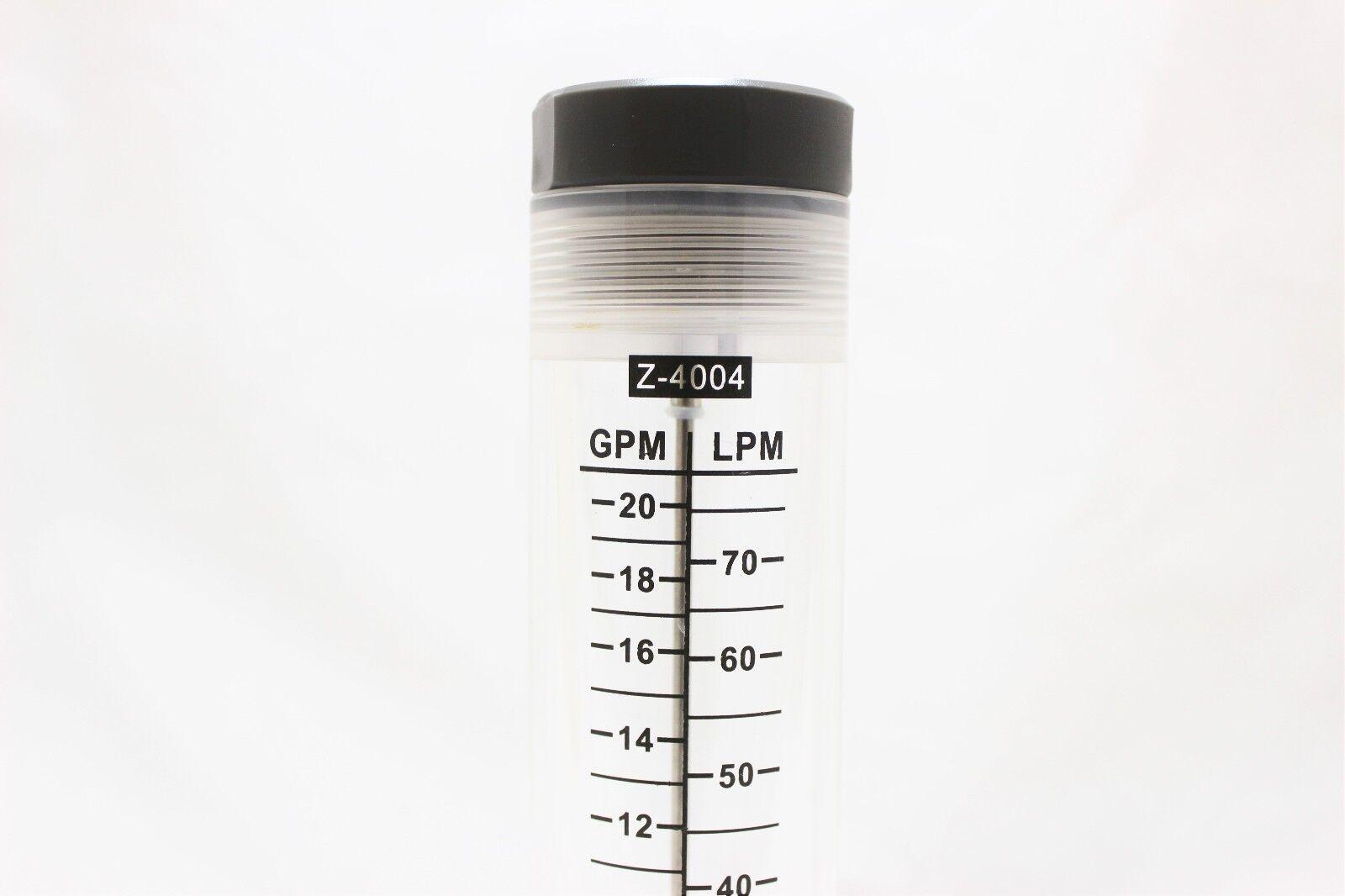 Water Flow Meter Flowmeter Rotameter 2 20 Gpm Inline