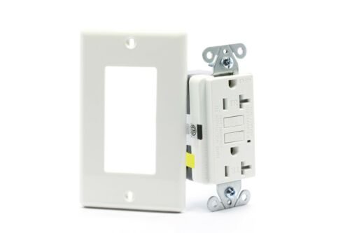 20A Tamper-Resistant GFCI Safety Receptacle/Outlet, White