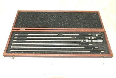 Starrett 823m Inside Micrometer Set 50mm-450mm With Wooden Case A