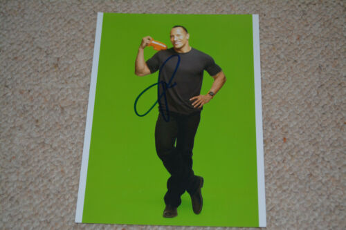 DWAYNE JOHNSON signed Autogramm 15x20cm  In Person rar!! THE ROCK