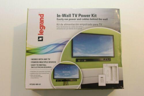 Legrand HT2202-WH-V1 In-wall TV Power Kit - White OPEN BOX