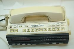 VINTAGE TELEPHONE PHONE NORTHWESTERN BELL RADIO ALARM CLOCK DESK TABLE 1970s