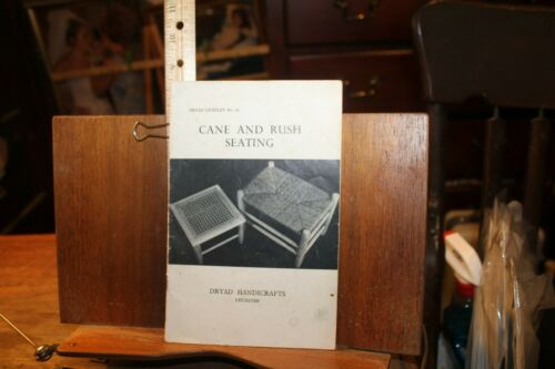 Vintage How To Booklet Cane and Rush Seating Dryad Handicrafts Leicester England