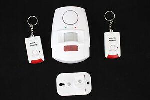 Drahtloser Alarmanlage Hausalarm Bewegungsmelder 2x Fernbedienung mit Sensor