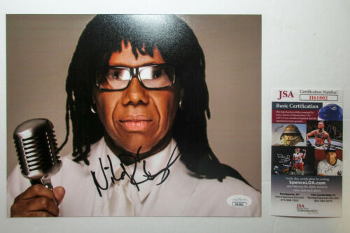 *GOOD TIMES* Nile Rodgers from 'Chic' Signed Autographed 8x10 Photo JSA B