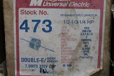 MagneTek Universal Electric Stock# 473 Motor 1/2-1/3-1/4HP - 208-230V - 1075RPM