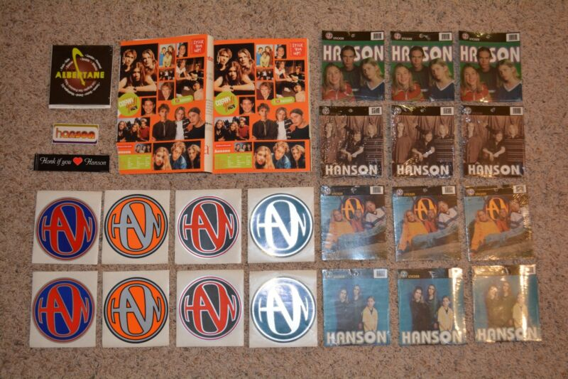50 RARE Hanson Stickers - OFFICIAL HANSON PRODUCT - NEW Factory Sealed with Tags