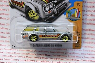 2017 Hot Wheels ZAMAC '71 Datsun Bluebird 510 Wagon 3/5 SURF'S UP Walmart