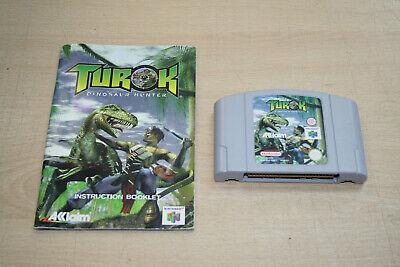 Turok Dinosaur Hunter Nintendo N64 (1997) With Manual.