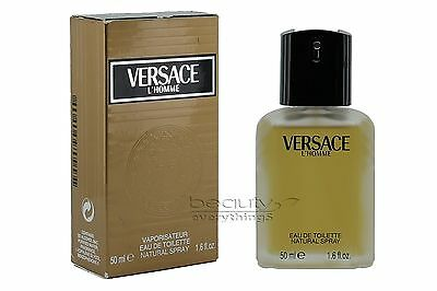 Versace L'Homme 1.6oz / 50ml EDT Spray Worn Out Box Men's Cologne Hard to Find