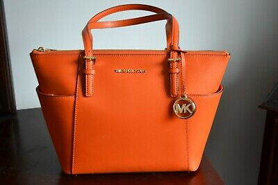 Michael Kors Authentic Orange Leather Tote