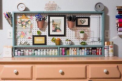 Peg Board Organizer - Craft Room Display Organization- Nursery Display -handmade