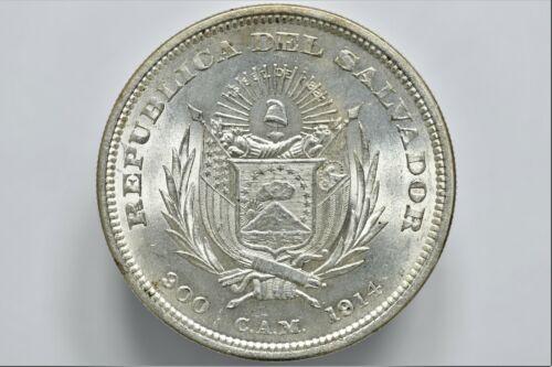 INVENTORY LIQUIDATION SALE 1914 El Salvador Silver 1 Peso KM# 115